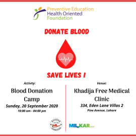 PEHOF Blood Donation Camp